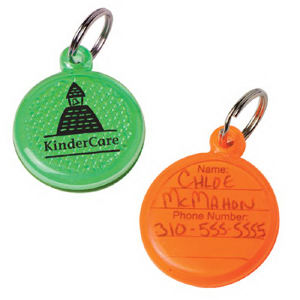 Round ID tag with