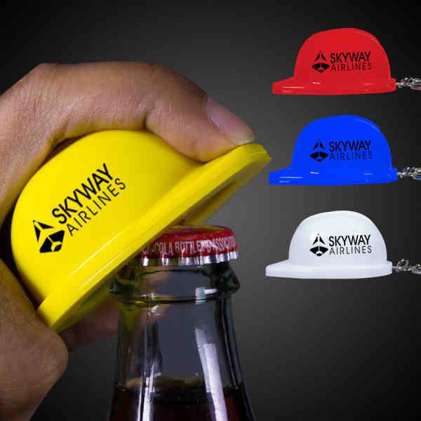 Construction hat shaped bottle