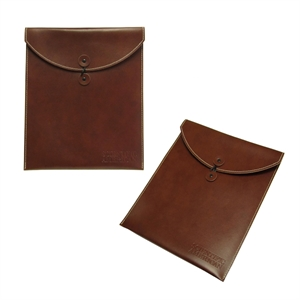 Leather saddle-stitched folio with