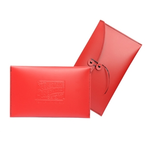Leather saddle-stitched folio with