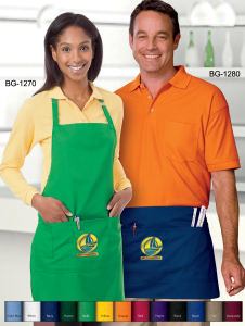 Unisex bib apron-65/35 poly/cotton