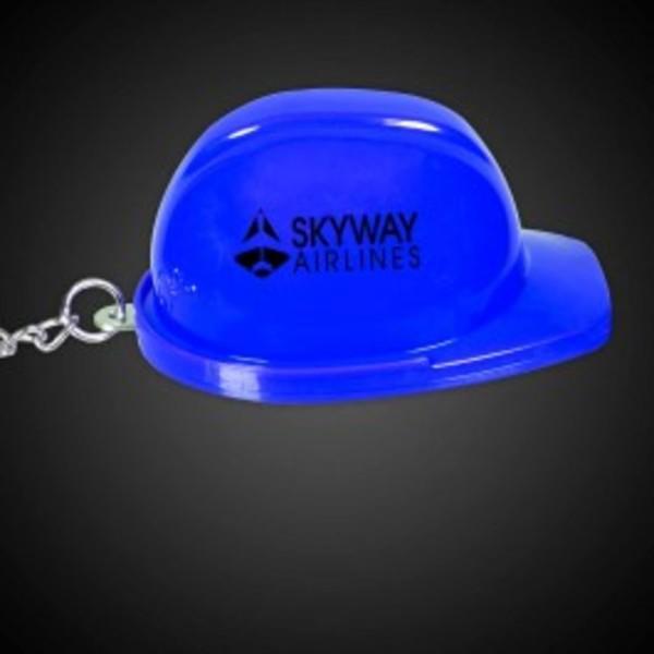 Blue construction hat shaped