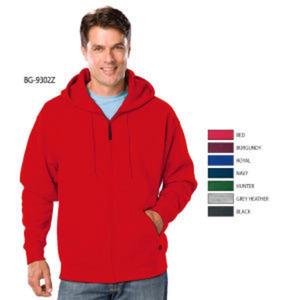 Adult hoodie full zip.