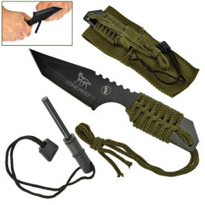 Hunting knife with fire