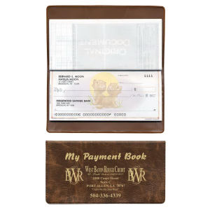 Checkbook covers available in