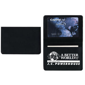 Foldover card case with