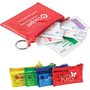 Colorful first aid kit