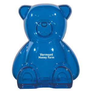 Plastic bear bank with