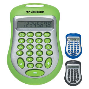 Calculator with eight digit