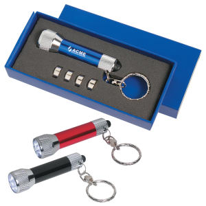 Aluminum flashlight keychain, 4