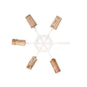 Snowflake Cork Trivet, White