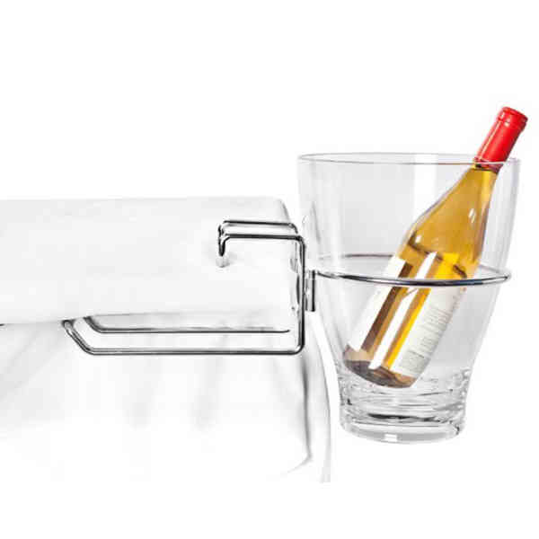 Table-Mount Wine Bucket Rack,