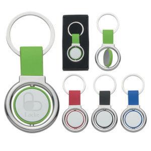 Circular metal spinner key