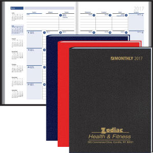 Monthly desk planner features