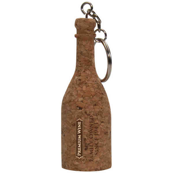 100% natural cork keyring