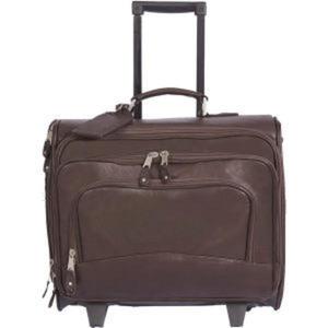 Wheeled computer briefcase, side