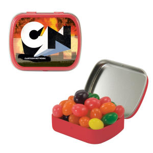 Small hinged candy tin
