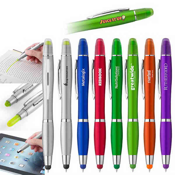 Curvaceous metallic colored stylus