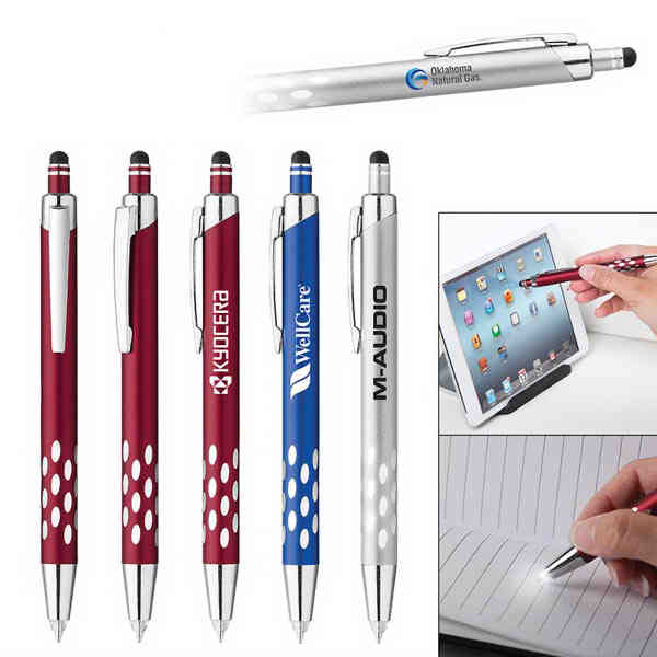 Aluminum plunger-action ballpoint pen