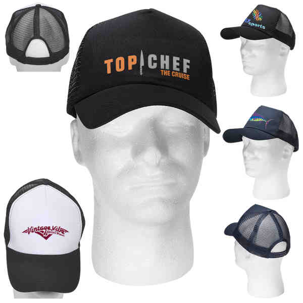 5 panel trucker-style cap