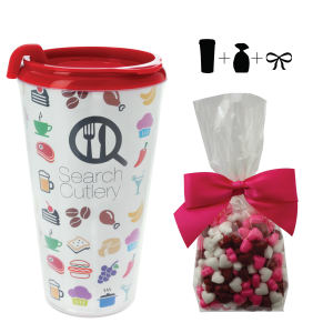 Promotional Plastic Cups-T-MUG-HEARTS
