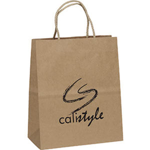 Kraft paper shoppers with