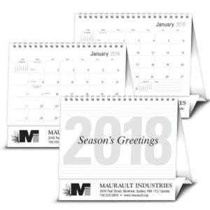 Large 2018 desk calendar.