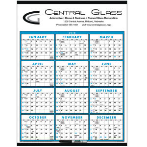 Span-a-year calendar, laminated, with