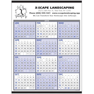 Span-a-year calendar with a