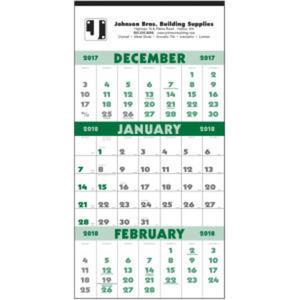 Calendar. Twelve-sheet, 3-month planner