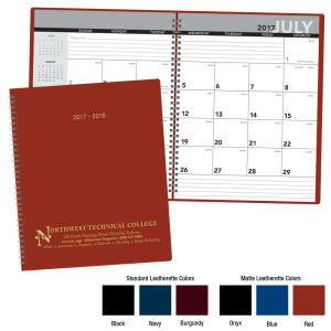 2017-2018 Academic monthly planner