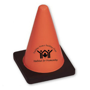 Construction cone-shaped stress reliever