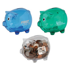 Piggy bank with bottom