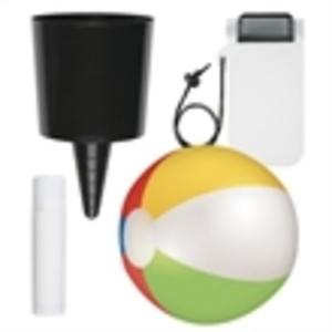 Beach-Nik, sunstick, beach ball,
