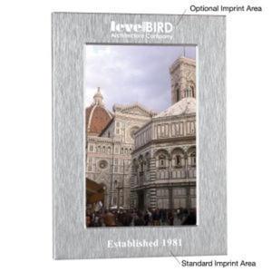 Aluminum photo frame, holds