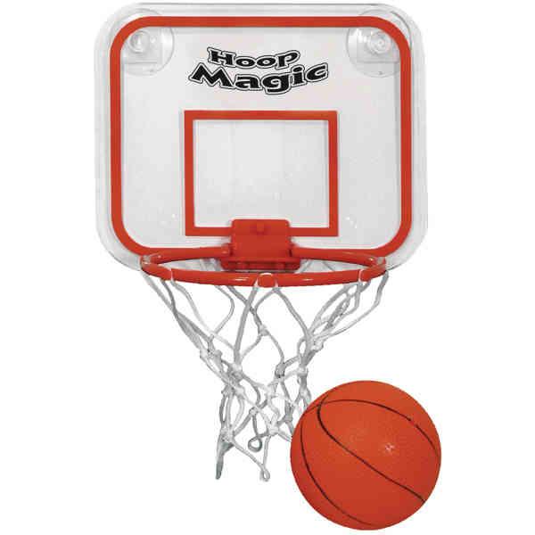 Miniature basketball and hoop