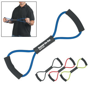 Exercise band made of