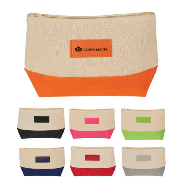 Cosmetic bag with zipper,