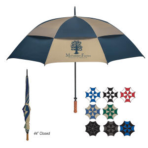 Vented, windproof umbrella withstands
