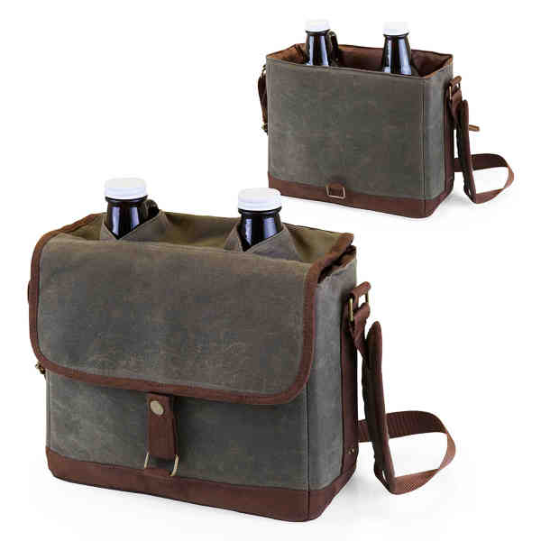 Insulated growler tote including