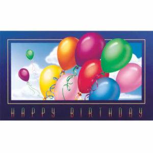 Rainbow Balloons Birthday Card.