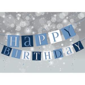 Happy Birthday Banner Card.