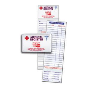 Medical register card made