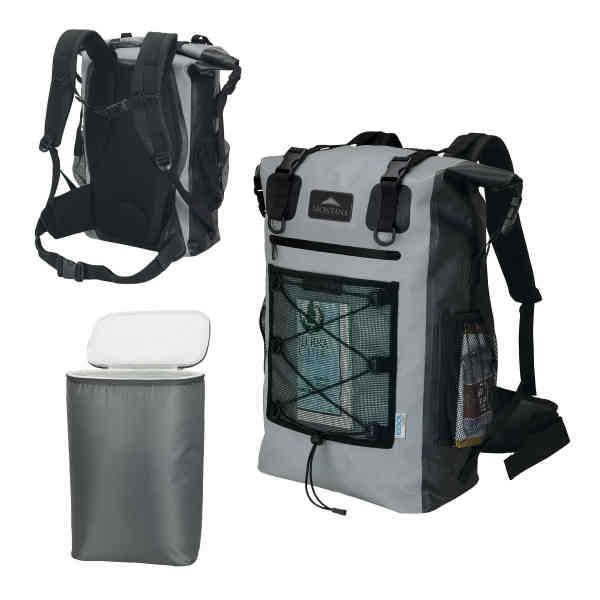 Waterproof cooler backpack; 42-qt
