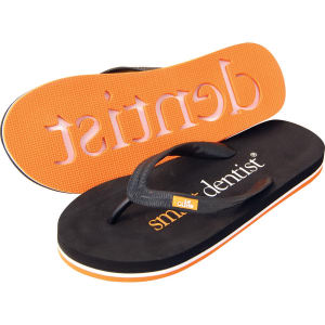 Flip flops made with