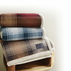 Embroidered - Reversible throw