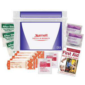 First aid kit includes