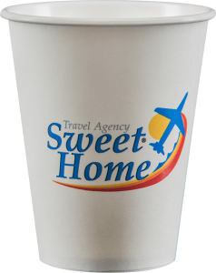 Promotional Paper Cups-D-PC8-White