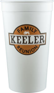 Promotional Stadium Cups-D-ST32-WHITE