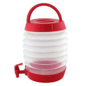 Beverage dispenser with collapsible